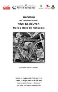 """""""Voci da dentro"""" con il Teatro Periferico di Cassano Valcuvia (Varese) – 2012"""